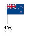 10 zwaaivlaggetjes Nieuw Zeeland 12 x 24 cm