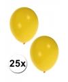 25 Gele ballonnen