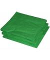 25 groene servetten 33 x 33 cm