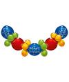 Ballonnen slinger guirlande Happy Birthday