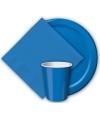 Blauwe borden 23 cm