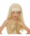 Blonde glamour pruik voor kinderen