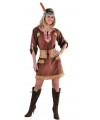 Toppers Bruine indianen dames outfit