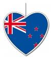 Decoratie hart Nieuw Zeeland 30 cm
