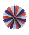 Decoratie waaier rood/wit/blauw