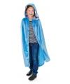 Fluwelen blauwe cape voor kinderen
