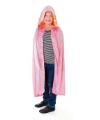 Fluwelen roze cape voor kinderen