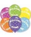 Gekleurde welkom thuis ballonnen 6 stuks