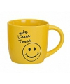Gele drinkbeker met smiley type 2