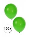 Groene ballonnen 100 stuks