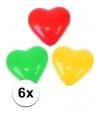 Hartjes ballonnen rood/geel/groen