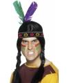 Toppers Indianen hoofdband met veren