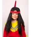 Indianen kinderpruik met lang haar