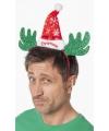 Kerst diadeem rendier met kerstmuts