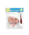 Kerstman masker van papier