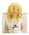 Kinderpruik blond krullen