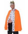 Koningsdag Luxe oranje koning cape