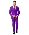 Luxe paars heren kostuum