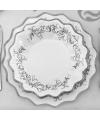 Luxe schaaltjes zilver 24 cm