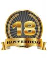 Luxe verjaardag mok / beker 18 jaar