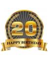 Luxe verjaardag mok / beker 20 jaar