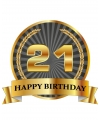 Luxe verjaardag mok / beker 21 jaar