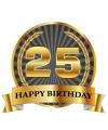 Luxe verjaardag mok / beker 25 jaar
