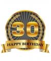 Luxe verjaardag mok / beker 30 jaar