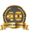 Luxe verjaardag mok / beker 40 jaar