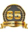 Luxe verjaardag mok / beker 65 jaar