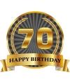 Luxe verjaardag mok / beker 70 jaar