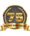 Luxe verjaardag mok / beker 75 jaar