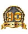 Luxe verjaardag mok / beker 90 jaar