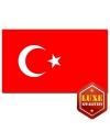 Luxe vlag Turkije