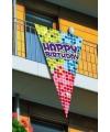 Mega Happy Birthday vlag 90 x 150 cm