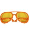 Koningsdag Mega oranje Elvis bril