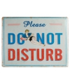 Metalen muurplaat Do Not Disturb 30 x 40 cm