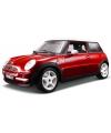 Modelauto Mini Cooper rood 1:18