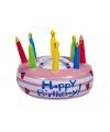 Opblaasbare verjaardagstaart Happy Birthday
