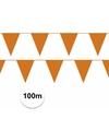 Koningsdag Oranje vlaggenlijnen 100 meter