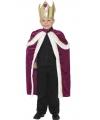 Paars Koning kostuum voor kinderen