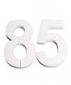 Piepschuim 85 cijfer 25 cm