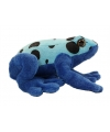 Pluche gifkikker Azureus knuffel blauw 18 cm