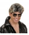 Popster pruik jaren 80 blond/grijs