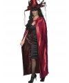 Tweezijdige luxe cape rood en zwart