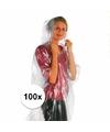 Voordeelpakket 100x wegwerp regenponcho