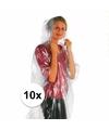 Voordeelpakket 10x wegwerp regenponcho