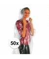 Voordeelpakket 50x wegwerp regenponcho