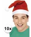 Voordelige kerstmutsen 10 stuks