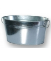Wasteil/Drankjes emmer zilver 49 cm